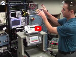 DSIM-A RF Amplifier Setup for the ACI SDA and ALX