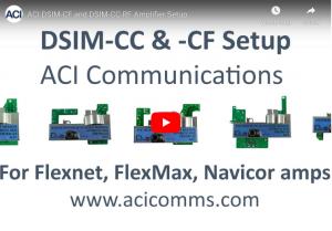 DSIM-CC & CF Amplifier Setup for Flexnet, FlexMax and Navicor Amps